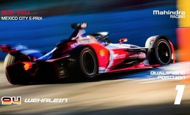 MEXICO CITY E-PRIX: Pascal Wehrlein porta la Mahindra al top, è Pole Position